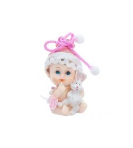 Figurine bébé fille avec un...