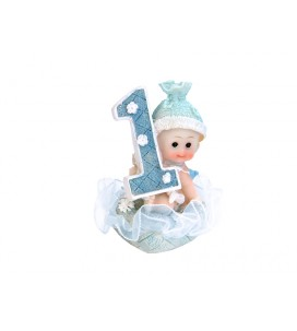 Figurine bébé garçon 1 an 7cm