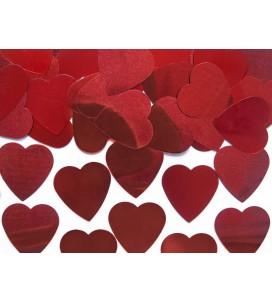 Confetti coeur rouge 25mm...