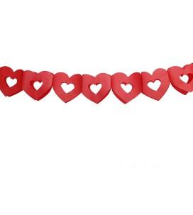 Guirlande cœur rouge de 3m